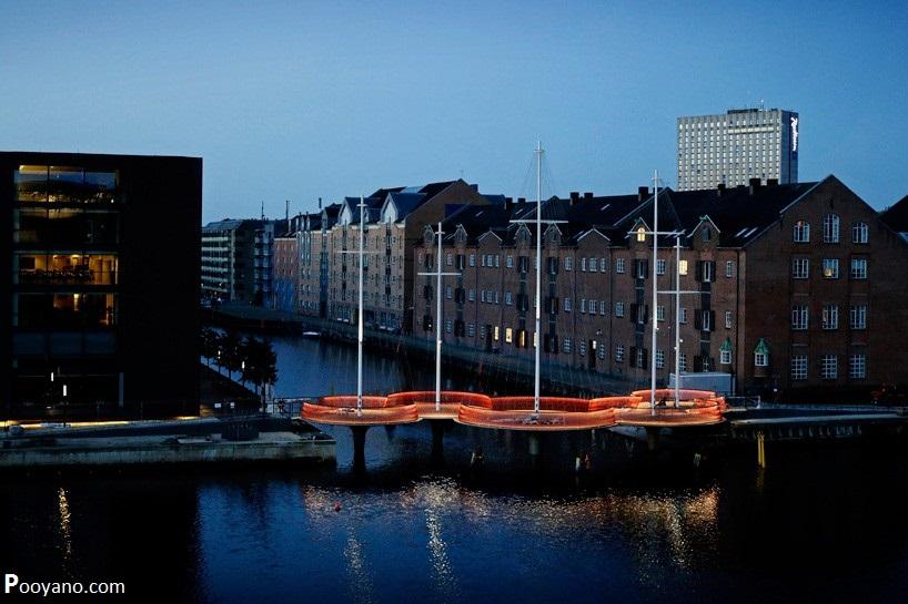 معماری پل Cirkelbroen در کپنهاگ