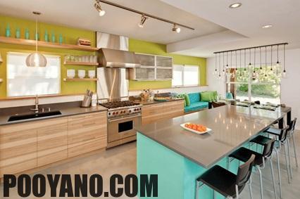 سایت پویانو-25 ایده رنگی خلاقانه آشپزخانه