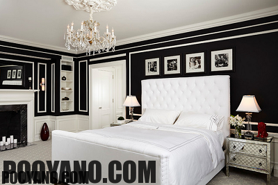 سایت پویانو-رنگ مشکی در دیوار اتاق