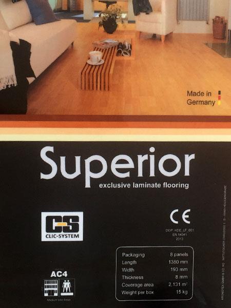 پارکت لمینت سوپریور Superior - پارکت لمینت آلمانی