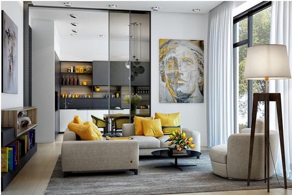 سایت پویانو -استفاده از رنگ زرد برای دکوراسیون خانه
