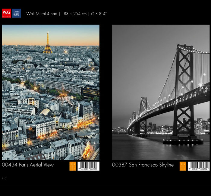 پوستر پاریس - کاغذدیواری سه بعدی پوستر W+G دکوراسیون داخلی