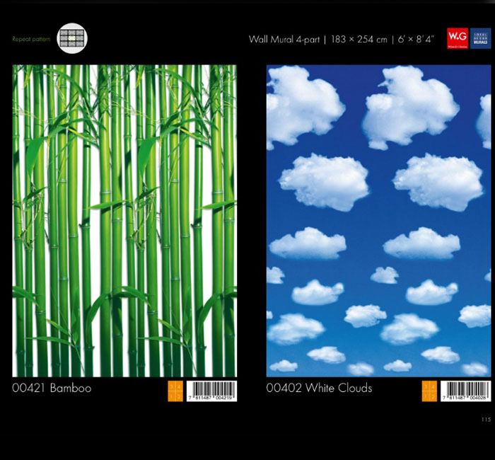 پوستر ابری - پوستر بامبو - کاغذدیواری سه بعدی پوستر W+G دکوراسیون داخلی