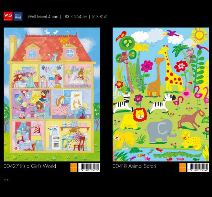 پوستر کودکانه - کاغذدیواری سه بعدی پوستر W+G دکوراسیون داخلی