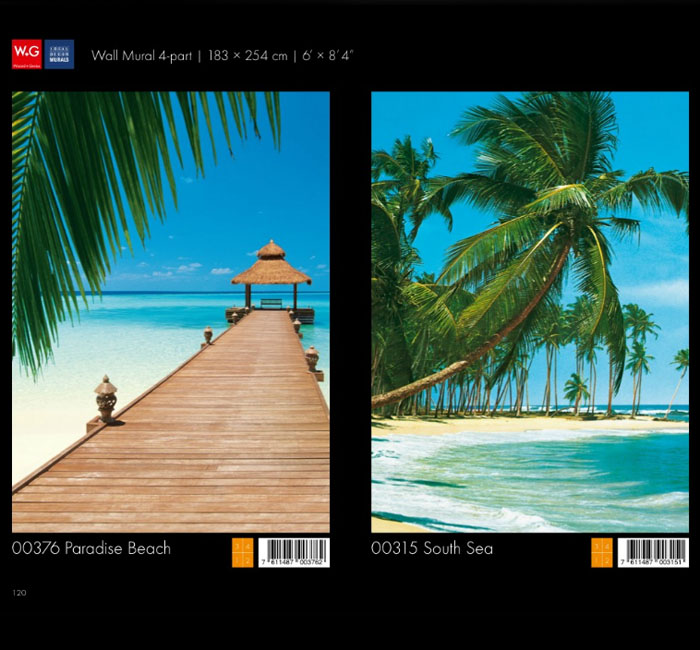 پوستر ساحل آرام - کاغذدیواری سه بعدی پوستر W+G دکوراسیون داخلی