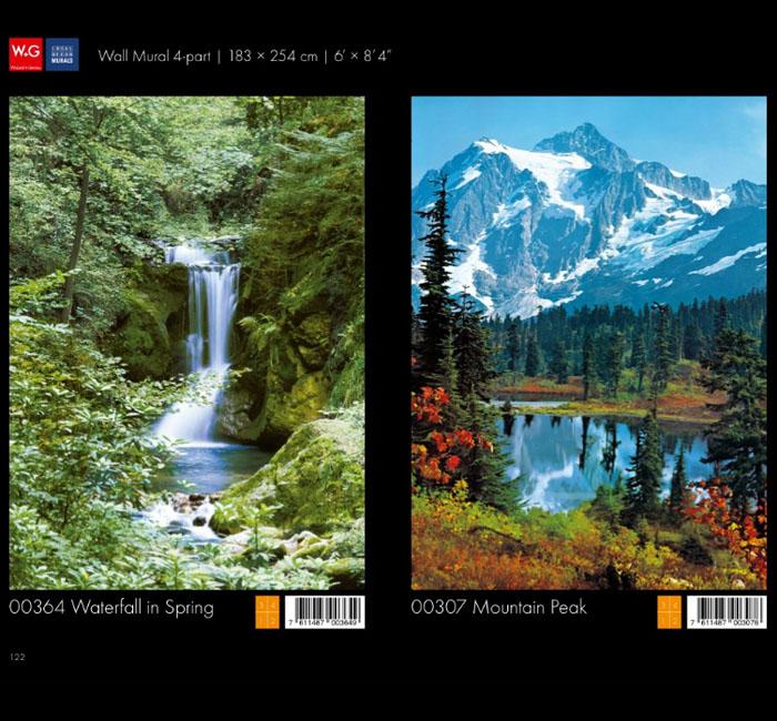 پوستر کوهستانی - پوستر آبشار - کاغذدیواری سه بعدی پوستر W+G دکوراسیون داخلی