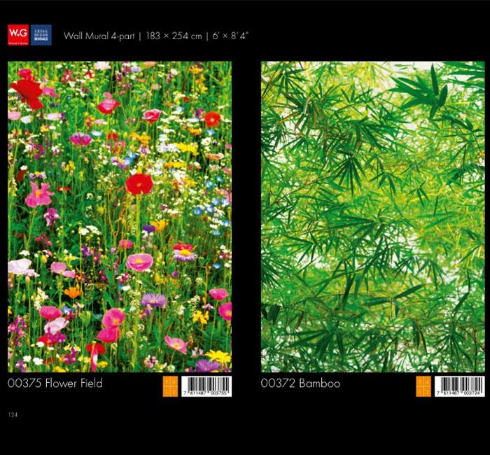 پوستر گلزار - پوستر بامبو - کاغذدیواری سه بعدی پوستر W+G دکوراسیون داخلی