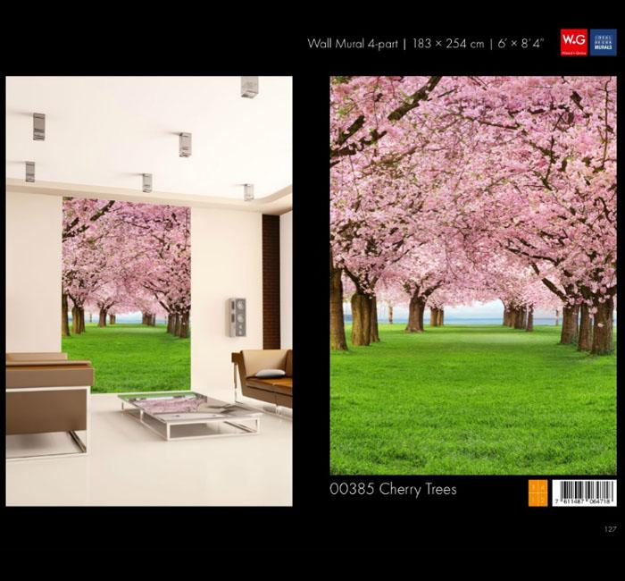 پوستر منظره بهاری - کاغذدیواری سه بعدی پوستر W+G دکوراسیون داخلی