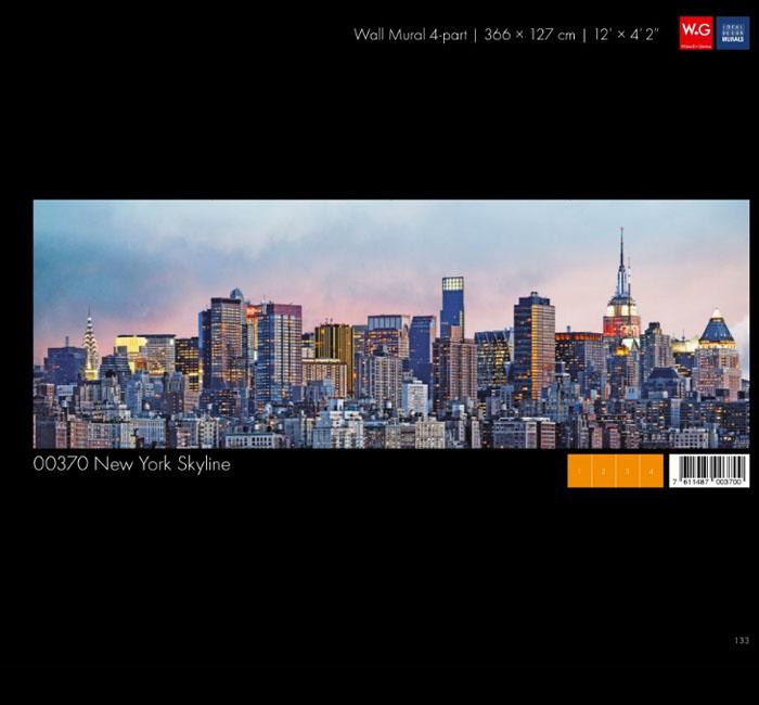 پوستر خط آسمان شهر نیویورک - کاغذدیواری سه بعدی پوستر W+G دکوراسیون داخلی