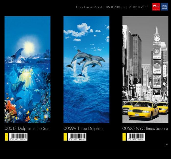 پوستر دلفین - کاغذدیواری سه بعدی پوستر W+G دکوراسیون داخلی