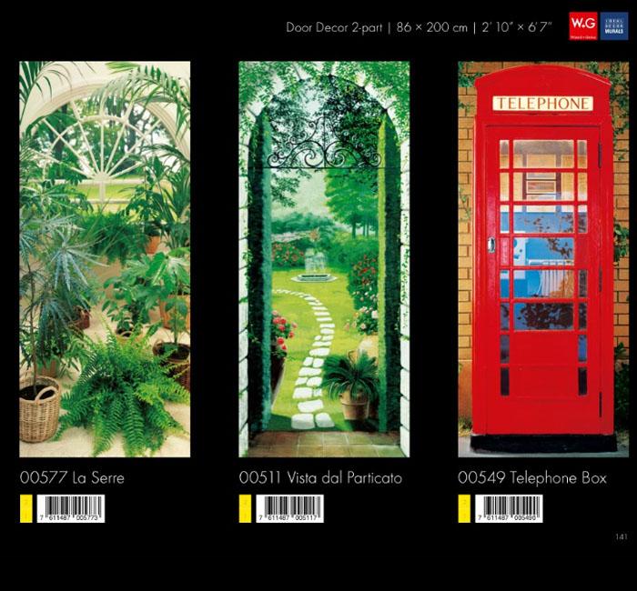 پوستر در باغ سبز - پوستر باجه تلفن - کاغذدیواری سه بعدی پوستر W+G دکوراسیون داخلی