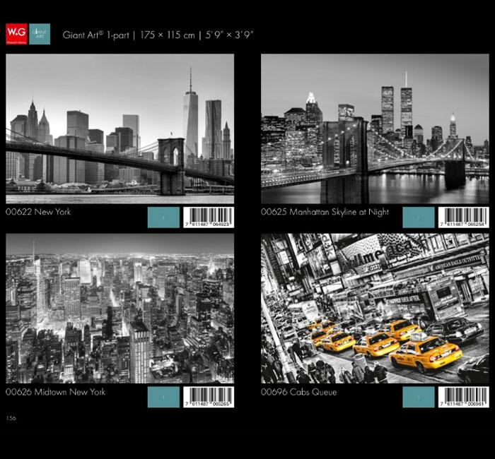 پوستر شهری - کاغذدیواری سه بعدی پوستر W+G دکوراسیون داخلی