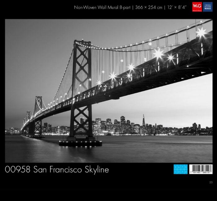 پوستر سان فرانسیسکو کاغذدیواری سه بعدی پوستر W+G دکوراسیون داخلی
