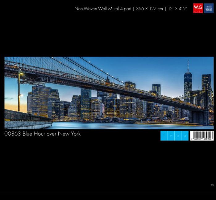 پوستر پل نیویورک - کاغذدیواری سه بعدی پوستر W+G دکوراسیون داخلی