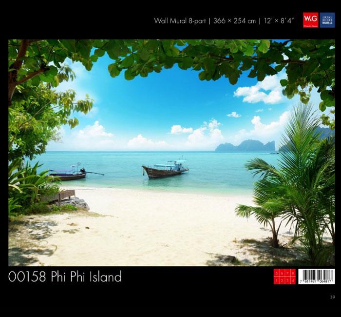 پوستر ساحل جزیره - کاغذدیواری سه بعدی پوستر W+G دکوراسیون داخلی