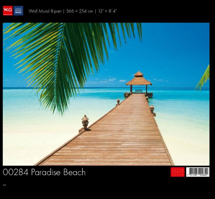 پوستر ساحل بهشتی - کاغذدیواری سه بعدی پوستر W+G دکوراسیون داخلی