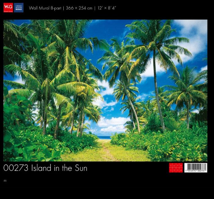 پوستر جزیره در روز آفتابی - کاغذدیواری سه بعدی پوستر W+G دکوراسیون داخلی