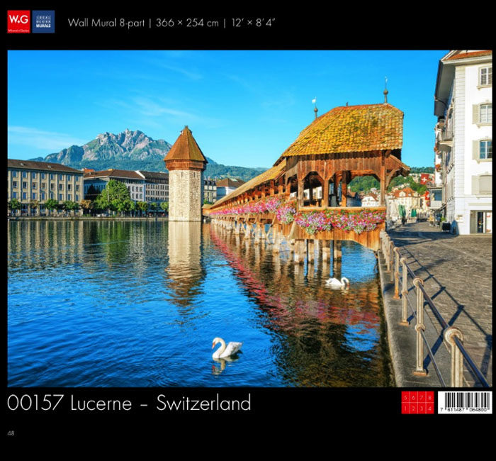 پوستر شهری سوئیس - کاغذدیواری سه بعدی پوستر W+G دکوراسیون داخلی