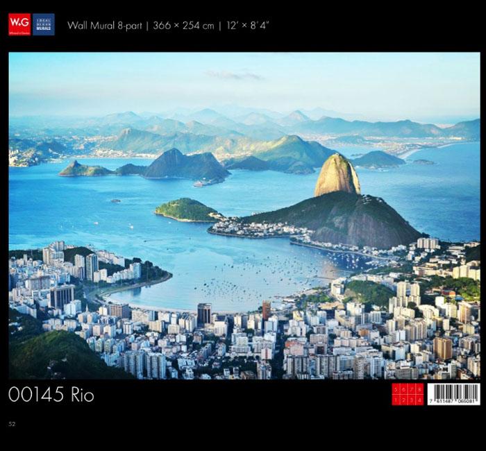 پوستر شهر ریو - کاغذدیواری سه بعدی پوستر W+G دکوراسیون داخلی