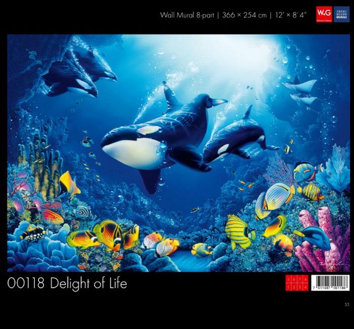 پوستر اعماق اقیانوس - کاغذدیواری سه بعدی پوستر W+G دکوراسیون داخلی