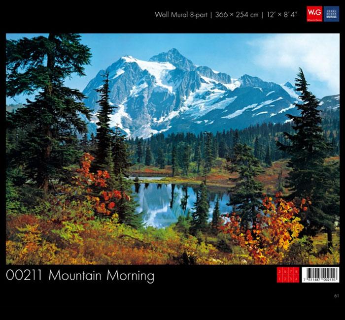 پوستر صبح کوهستانی - کاغذدیواری سه بعدی پوستر W+G دکوراسیون داخلی