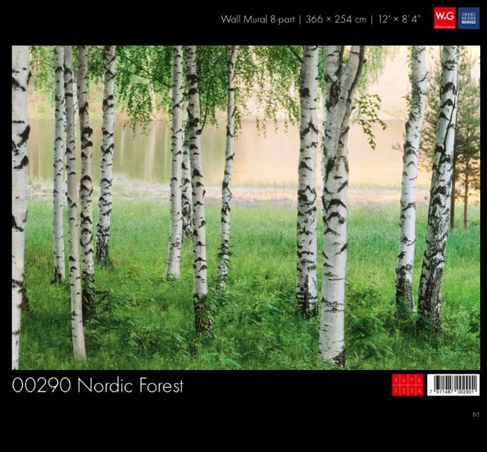 پوستر جنگل - کاغذدیواری سه بعدی پوستر W+G دکوراسیون داخلی