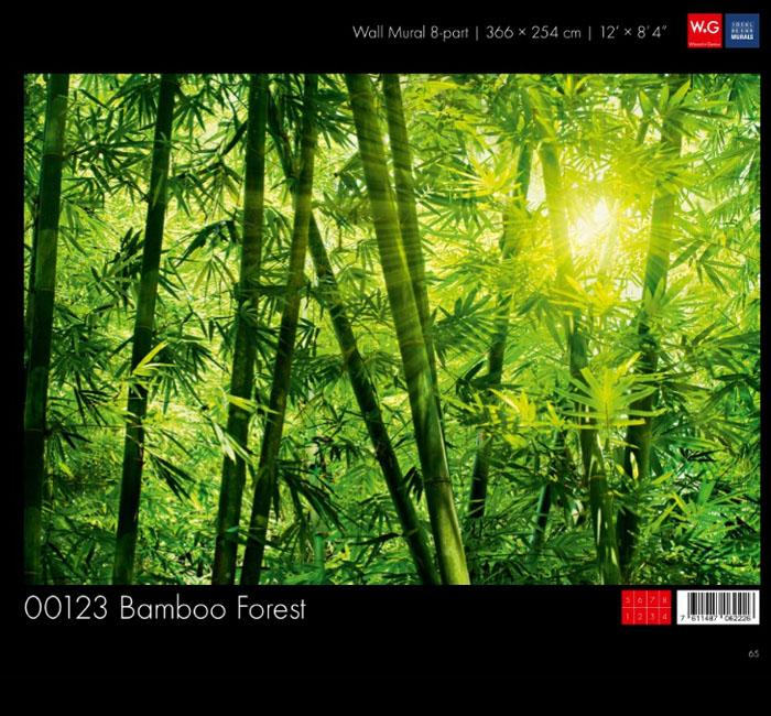 پوستر بامبو - کاغذدیواری سه بعدی پوستر W+G دکوراسیون داخلی
