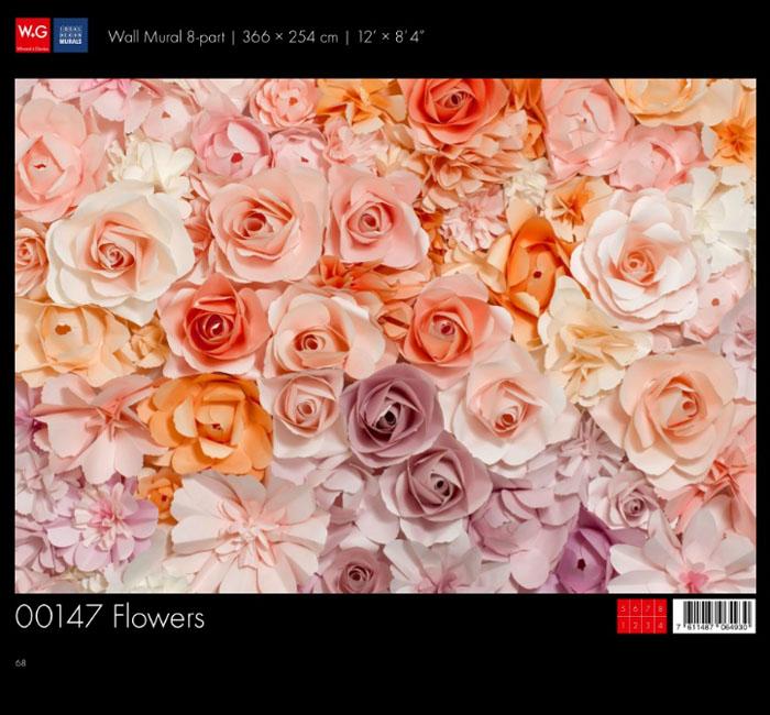 پوستر گل رز رمانتیک - کاغذدیواری سه بعدی پوستر W+G دکوراسیون داخلی