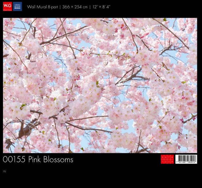 پوستر شکوفه درختان - کاغذدیواری سه بعدی پوستر W+G دکوراسیون داخلی