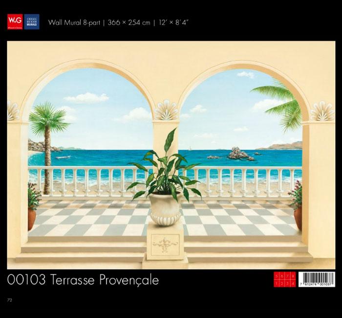 پوستر ایوان ساحلی - کاغذدیواری سه بعدی پوستر W+G دکوراسیون داخلی