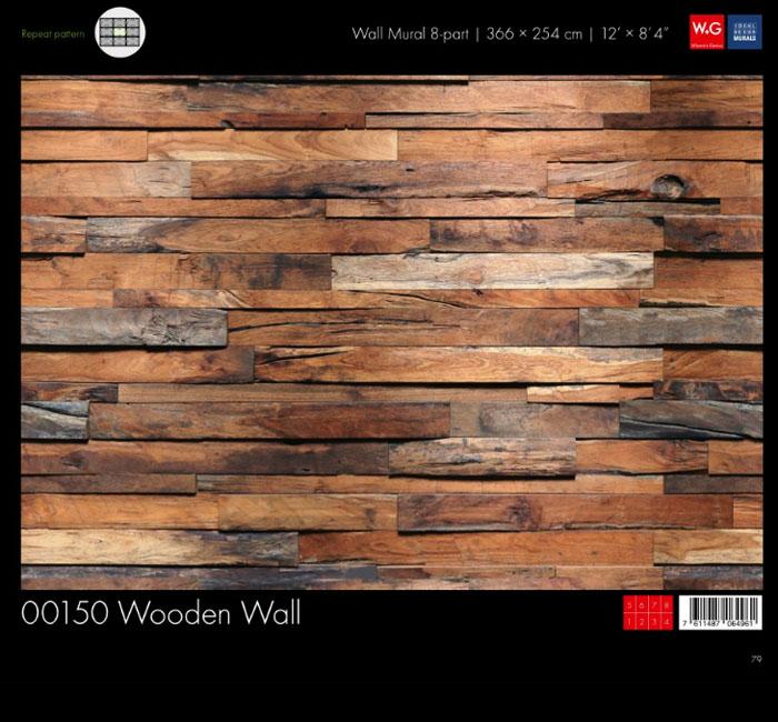 پوستر چوب دکوراتیو - کاغذدیواری سه بعدی پوستر W+G دکوراسیون داخلی