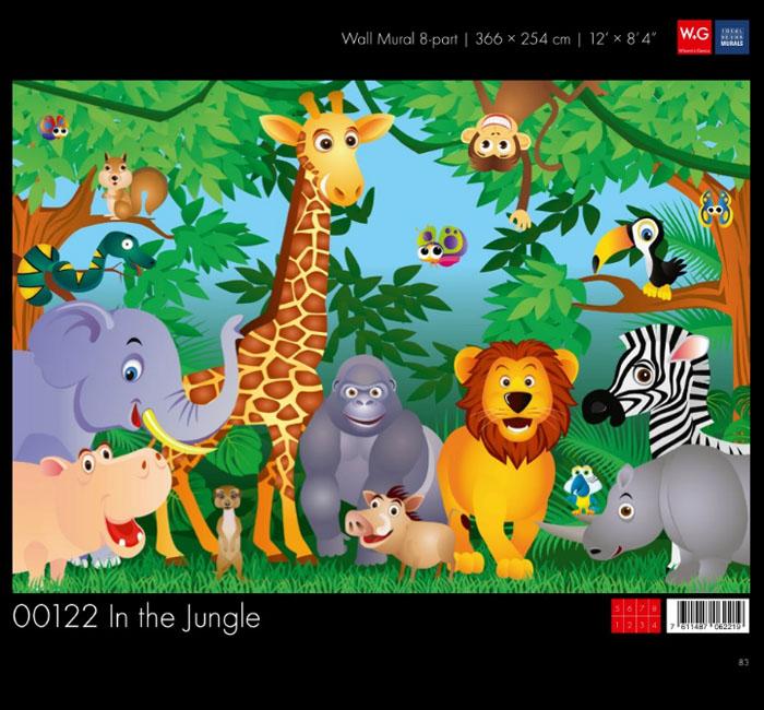 پوستر باغ وحشی - کاغذدیواری سه بعدی پوستر W+G دکوراسیون داخلی