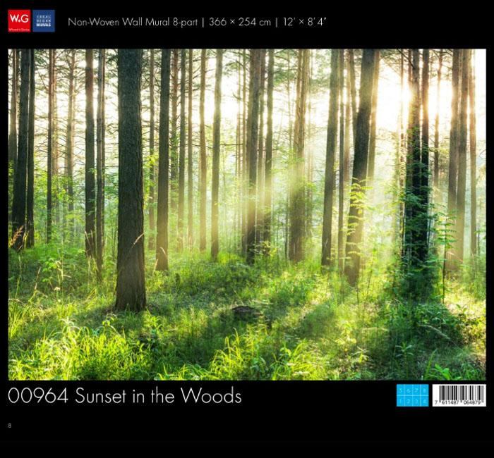 کاغذدیواری سه بعدی طرح جنگل پوستر W+G دکوراسیون داخلی