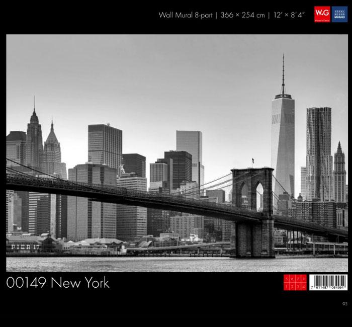 پوستر شهری نیویورک سیاه و سفید - کاغذدیواری سه بعدی پوستر W+G دکوراسیون داخلی