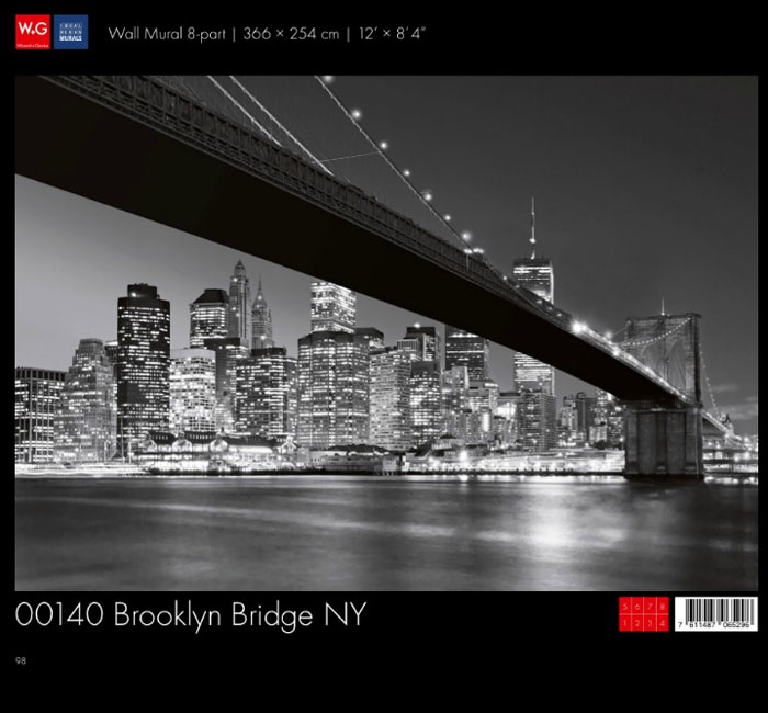 پوستر پل بروکلین - کاغذدیواری سه بعدی پوستر W+G دکوراسیون داخلی