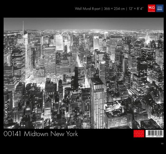 پوستر مرکز شهر نیویورک - کاغذدیواری سه بعدی پوستر W+G دکوراسیون داخلی
