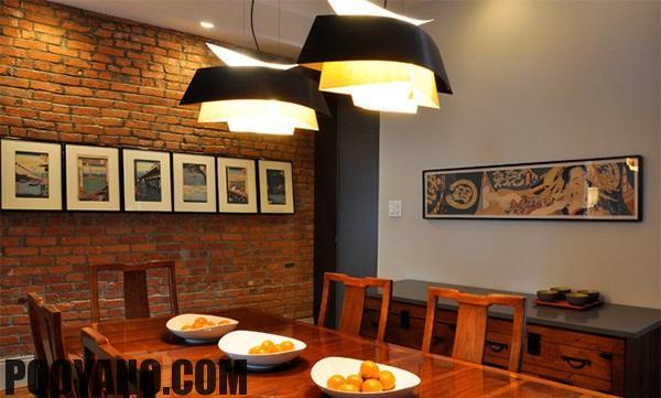 سایت پویانو-دیوار آجری اتاق غذاخوری