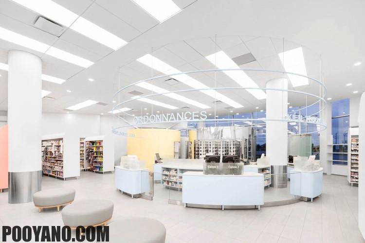 طراحی داخلی داروسازی و مرکز پزشکی Uniprix