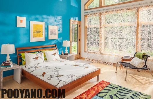 سایت پویانو-دکوراسیون اتاق خواب آبی