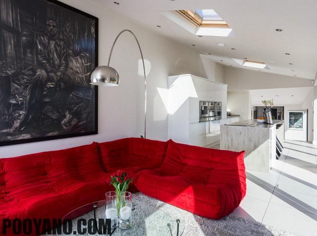 سایت پویانو-مبلمان قرمز در دکوراسیون منزل