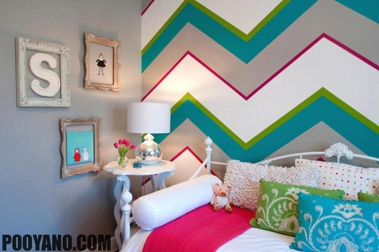نقاشی دیوار توسط خودتان در طراحی داخلی