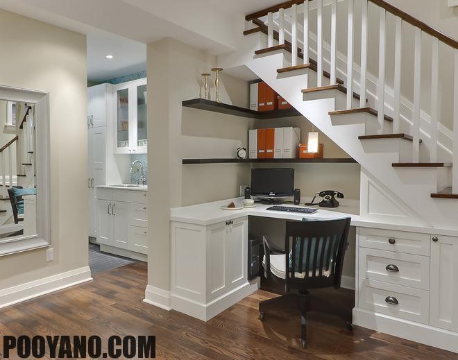 سایت پویانو-طراحی فضای زیر پله ها