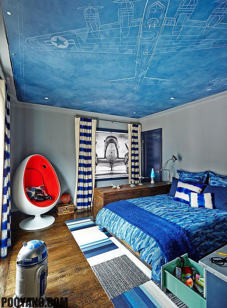 طراحی سقف اتاق کودکان و نوجوانان
