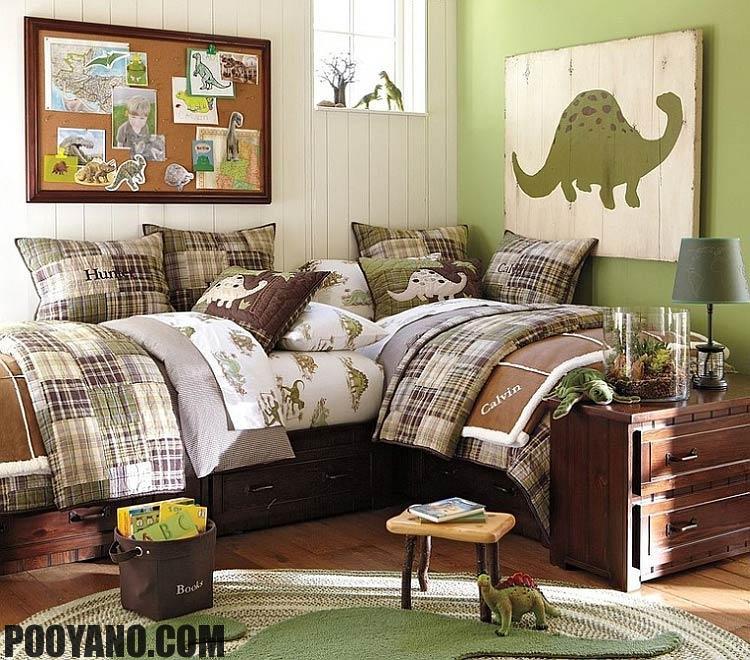 اتاق خواب کودکان و نوجوانان با تم دایناسور
