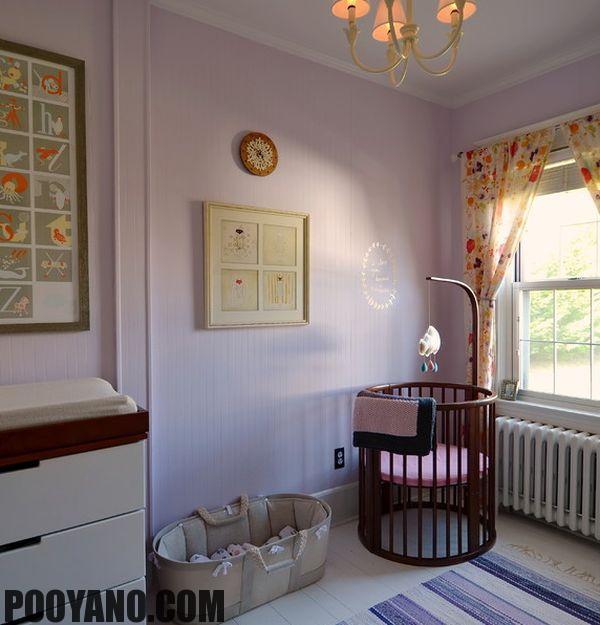 مدل تخت خواب گرد برای نوزادان