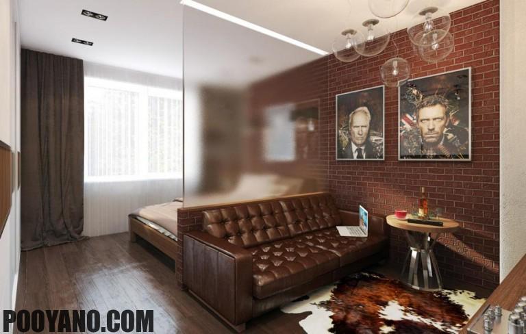 ترکیب فضای اتاق خواب با نشیمن