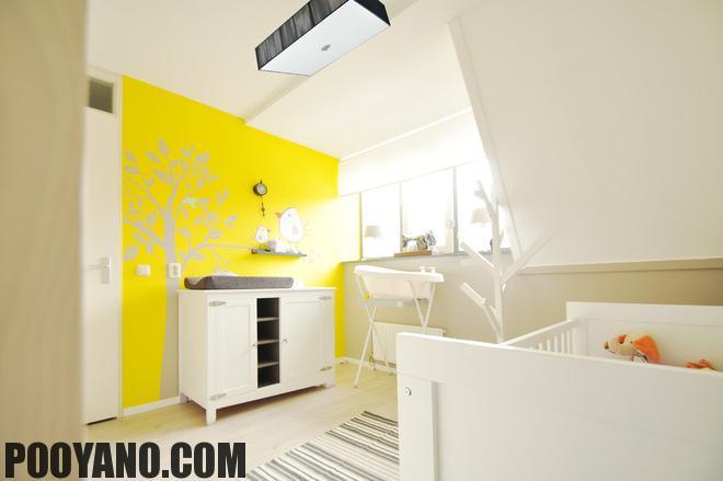 رنگ روشن برای ترکیب با سفید در دکوراسیون داخلی