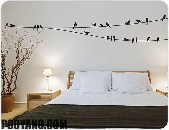تم پرندگان در طراحی داخلی