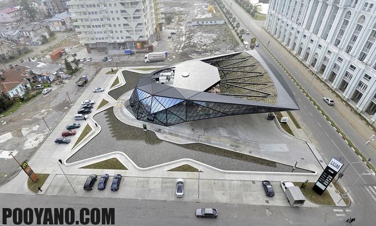 طراحی معماری جایگاه سوخت