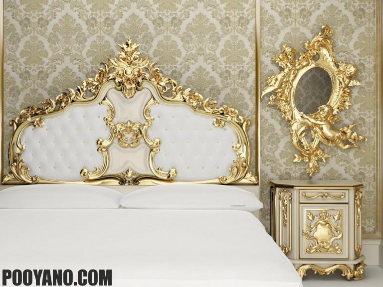 طراحی داخلی اتاق خواب به سبک باروک
